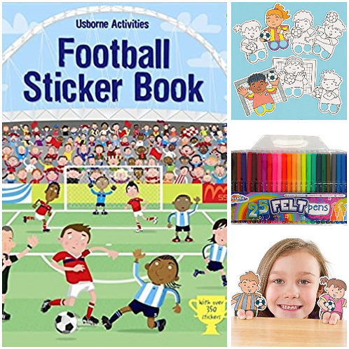 Football - Sticker Book & Finger Puppet Pack
