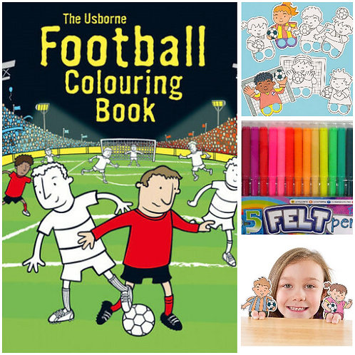 Football - Colouring Book & Finger Puppet Pack