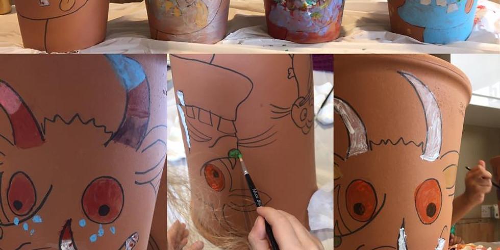 Gruffalo Pot Painting