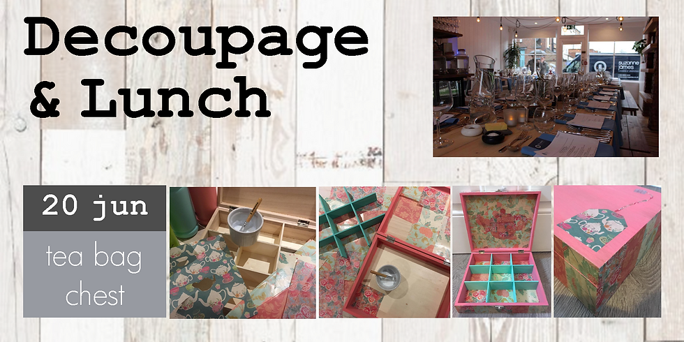 Decoupage and lunch at Fifty Seven