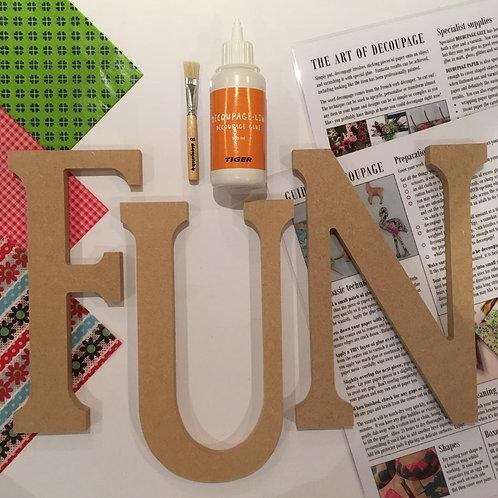 FUN large mdf letters Kit