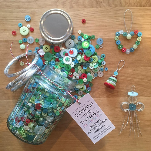 Christmas Buttons Jar - Large