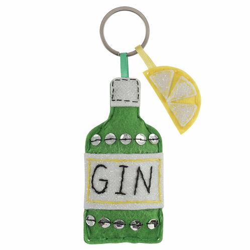 Felt Keyring Sewing Kit - Gin & Lemon