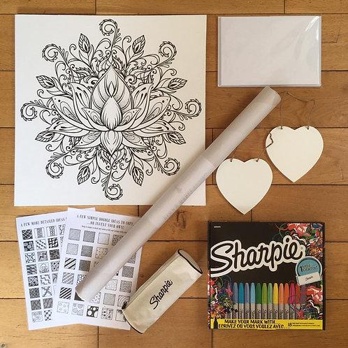 Doodle Art - Lotus Love