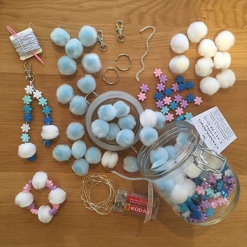 Snowflakes and Poms Jewellery and Nightlight