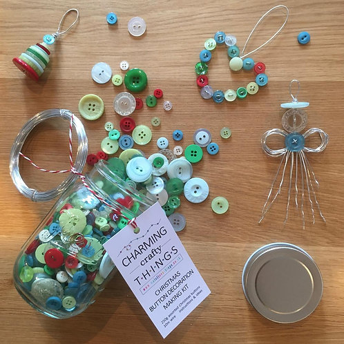 Christmas Buttons Jar