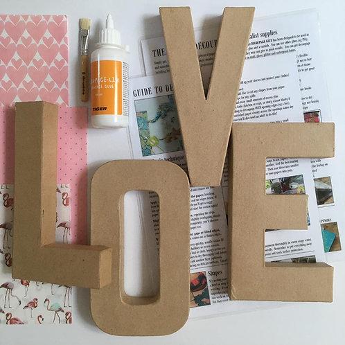 LOVE large mache letters Kit