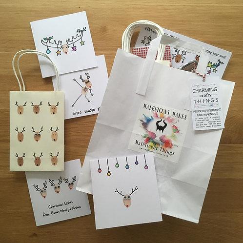 Fingerprint Art: Reindeer Card Making Kit
