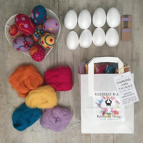 Easter Eggs   Needle Felting Kit