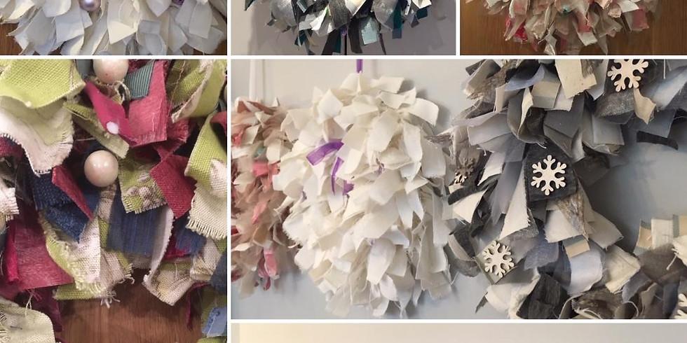 Festive Rag Wreath Making