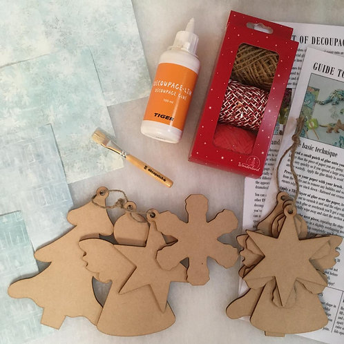Set of 8 Christmas Shapes: Tree Mix