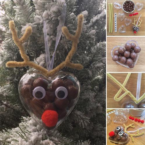 Chocolate Reindeer Decorations