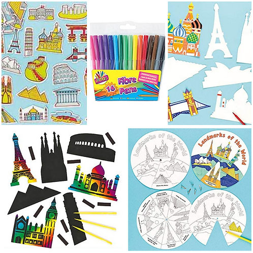 World Landmarks Activity Pack