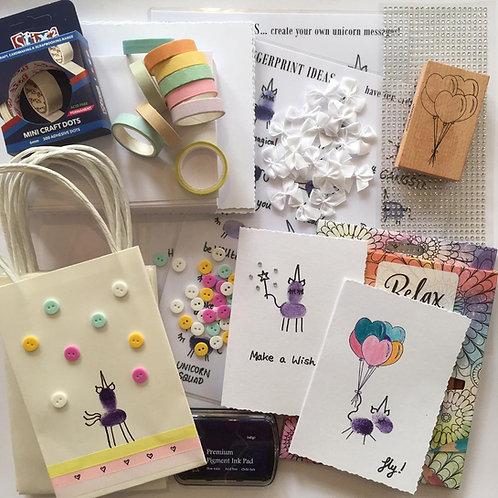 Fingerprint Art: Unicorn Card Making Kit