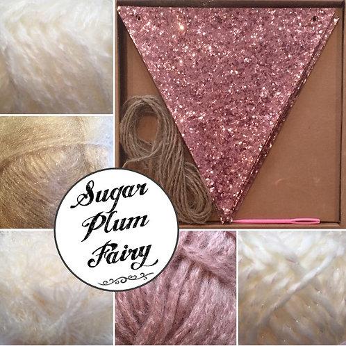 Pom Pom Glitter Bunting Kit - Sugar Plum Fairy