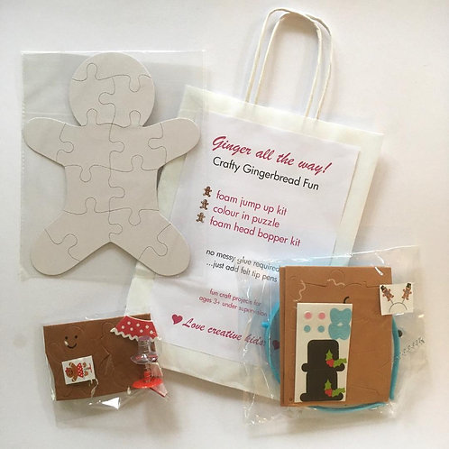 Ginger all the Way! Christmas Craft Bag