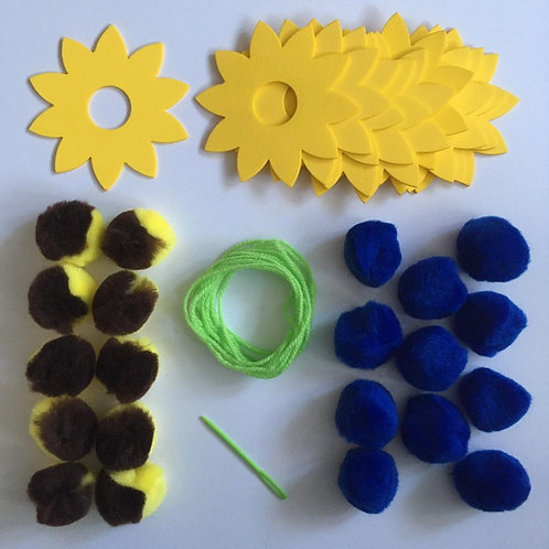 Sunflower Pom Pom Garland