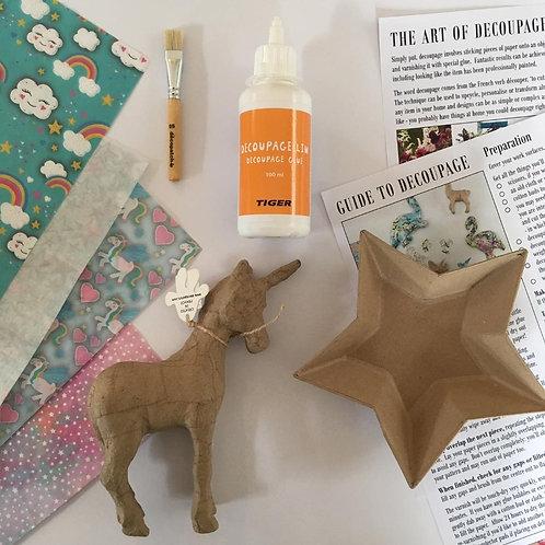 Small Standing Unicorn + Star Dish Kit