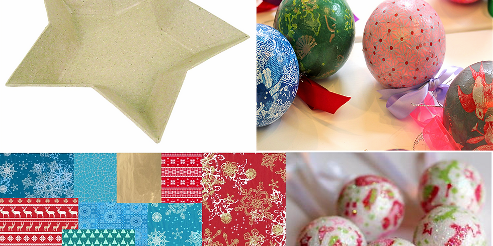 Decoupage Star Dish and Baubles