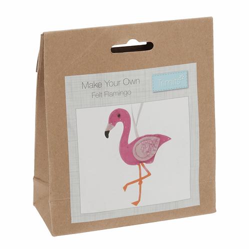 Felt Decoration Sewing Kit - Flamingo