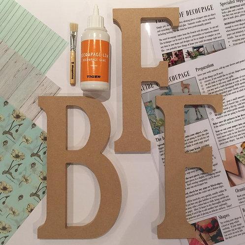BFF large mdf letters Kit