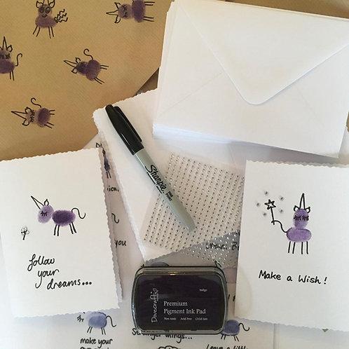 Fingerprint Art: Purple Unicorns