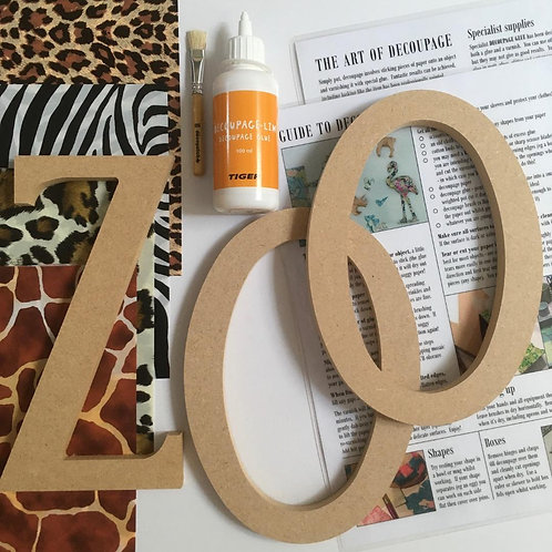ZOO large mdf letters Kit