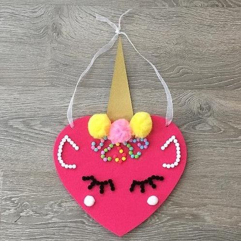 Unicorn Pom Pom Heart
