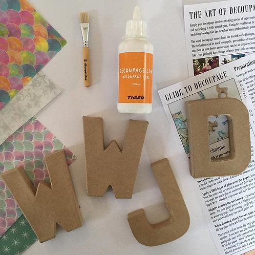 WWJD small mache letters Kit