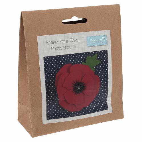 Felt Brooch Sewing Kit - Poppy