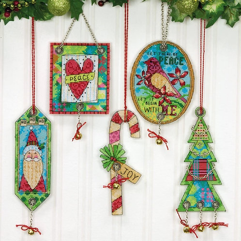Counted Cross Stitch Ornaments: Jingle Bells