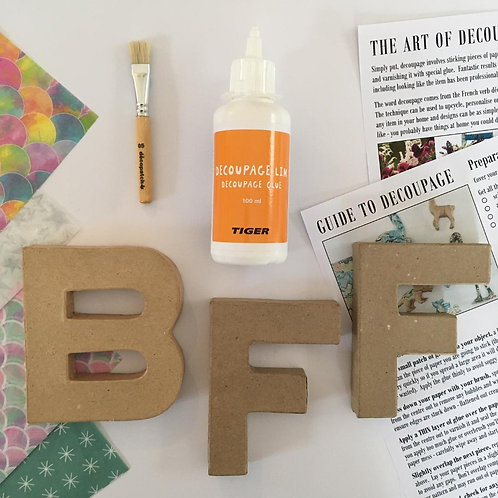 BFF small mache letters Kit