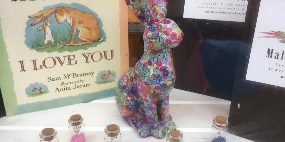 Guess How Much I Love You Decoupage Hare