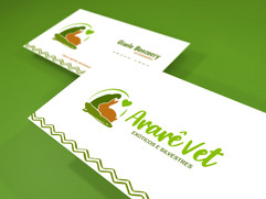 Cartão de visitas Ararê Vet
