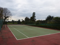 Cancha de tenis para huéspedes