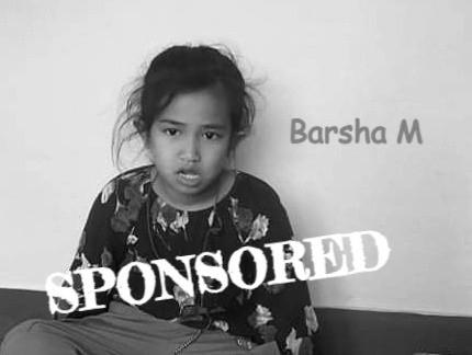 Barsha is sponsored