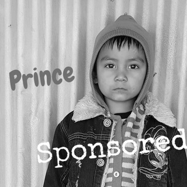 Prince is proudly sponsored by Michael and Emily