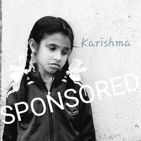 Karishma is sponsored