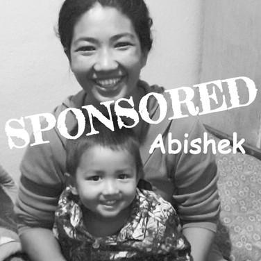 Abishek is sponsored