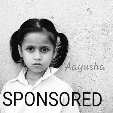 Aayusha is sponsored
