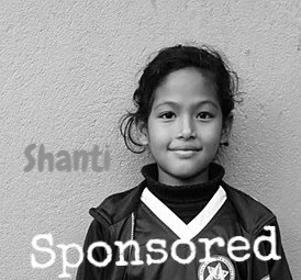 Shanti is proudly sponsored by Michael and Emily