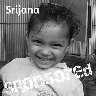 Srijana is sponsored