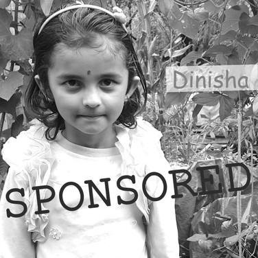 Dinisha is sponsored