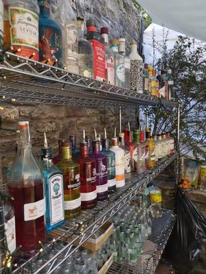The new addition: a gin bar