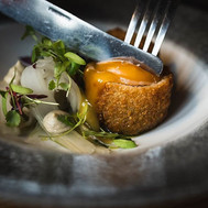 Pigs Cheek Croquette, fennel and pickled veg
