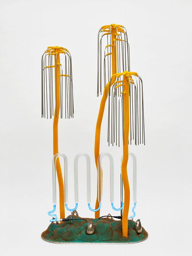 Sugarloaf sculpture bronze neon light lamp Whitechapel Gallery London Open exhibition