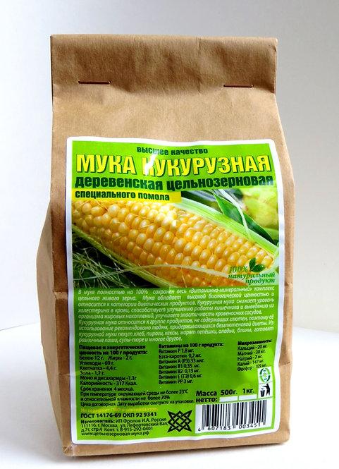 Мука Кукурузная Цельнозерновая 500г