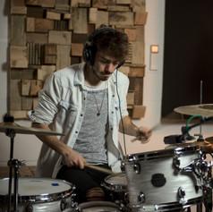 Recording session in Studio 91, Newbury
