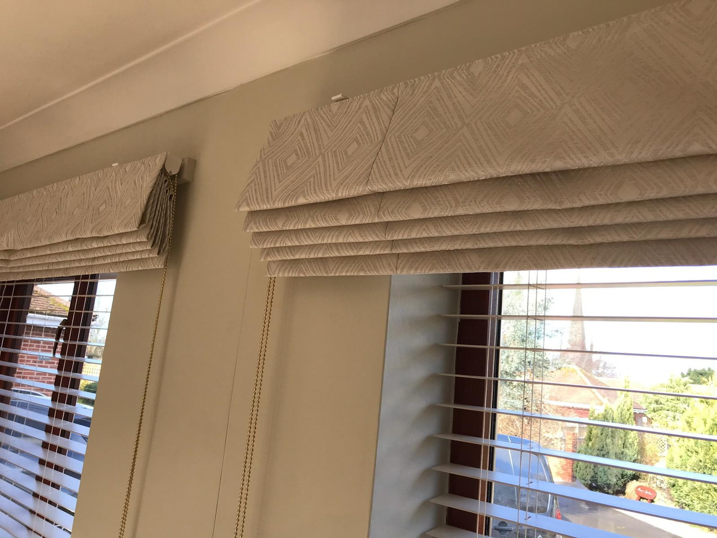 Matching Roman Blinds
