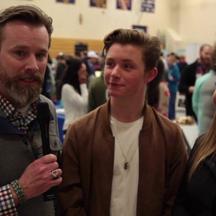 RFHS Principal Brett Stringer, and student MC's